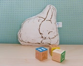 Organic Sleeping Bunny Pillow - Nikita