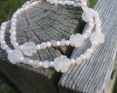Reserved Listing Rose Quartz And Pearl Necklaces