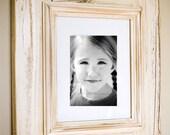 Distressed Wood Frame - White Glaze