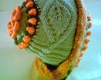 Leaves of Prosperity Hat that Protects the Spine in Burnt Orange