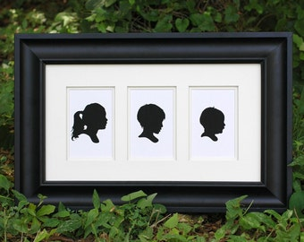 Reserved listing for Katie - Three Custom Silhouette Prints