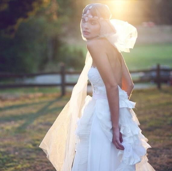 Bohemian Wedding Gown- Some Kind of Wonderful TRAIN ONLY- Reserved for Stephanie
