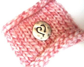 Knit Wrist Cuff - Dusty Pink