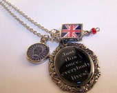 Just This Once, Everybody Lives British Flag Pendant Necklace