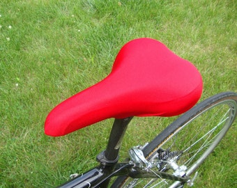 Bicycle Saddle Cover - STANDARD size - Bright Red