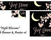 Night Blossoms - Banner and Avatar Set
