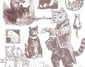 Vintage Cats Photoshop Brushes Brush Set