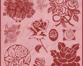 Roses Rose Photoshop Brushes Brush Set