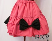Pink X Black Loli Skirt with Bows