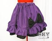 Purple X Black Bow Loli Skirt