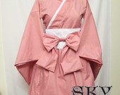 Custom Simple Waloli Kimono Dress in Dusty Rose