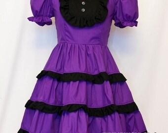 Custom Purple X Black Tiered Dress
