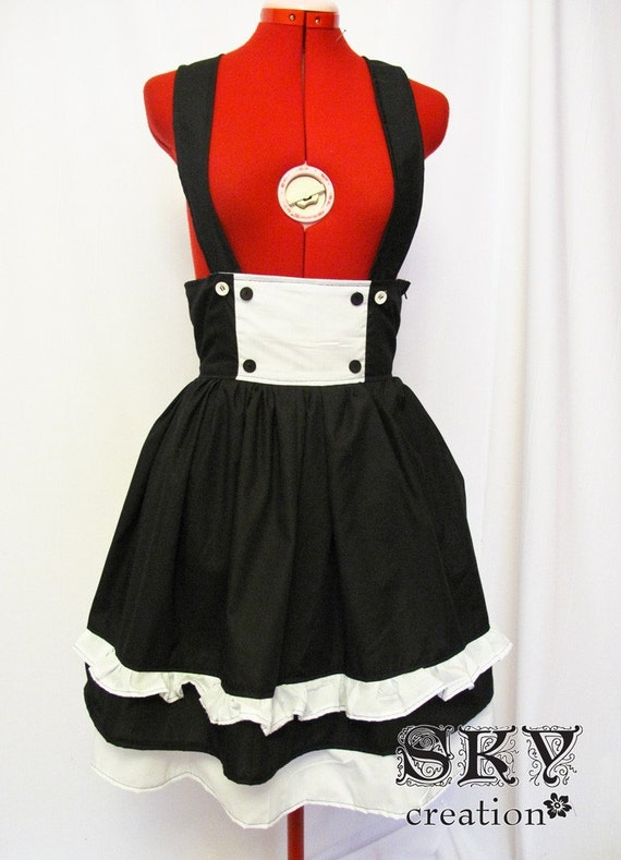 Sailor Pinafore in Black White