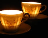 A pair of Shooting Stars teacup Soy Wax candles by TwilightSpells choose your favourite fragrance
