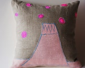 Volcano , pillow cover