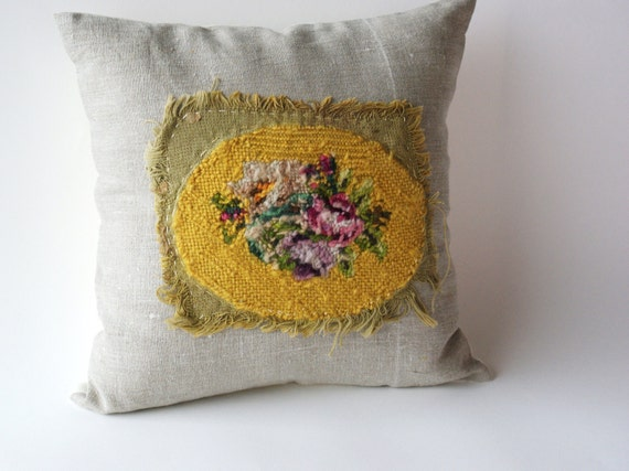 Antique Embroidery, Pillow Cover