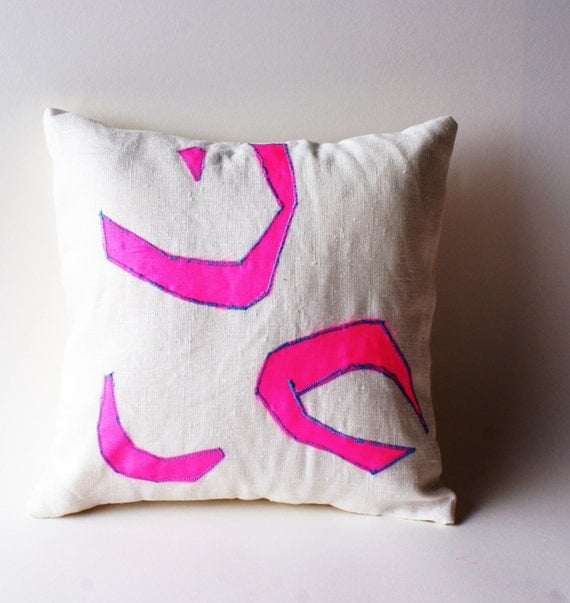 Neon PINK, pillow cover