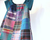 Cape Cod Breeze - Easy shift dress in Madras plaid - Sizes 6m, 12m, 18m, 2T, 3T, 4T, 5 and 6