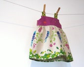 Reserved for 97debdog  Spring 2011 - Birds by Echino - Bow jumper dress