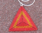 NATIVE AMERICAN TRIANGLE WOVEN BEADED NECKLACE