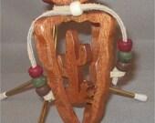NATIVE AMERICAN CACTUS Arrowhead Ornament Mahogany