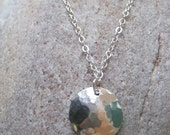 Serendipity Hammered Silver Necklace