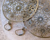 CLEARANCE - Kim Antique Brass Earrings