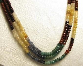 Sapphires Multi Colors - 7 inch strand