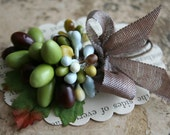 Wrens Nest Lovely Earth Tone Stamen Collection - Ribbon Wrapped Millinery Stamen Bundle - Mixed Matte Stamens