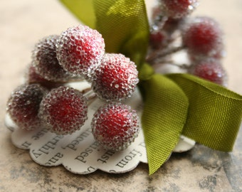 For Marianne 3 frosted cranberry stamen bundles