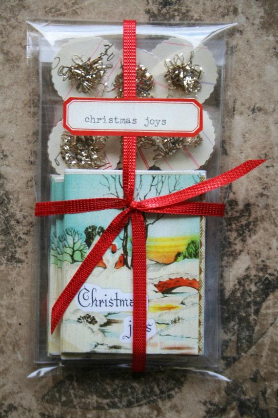Reserved for Theresa...christmas joys tiny book set