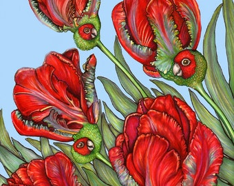 Parrot Tulips - 8x10 archival giclee print
