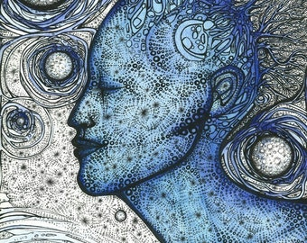 Blue Moon Dreamer - 8x10 limited edition archival giclee print