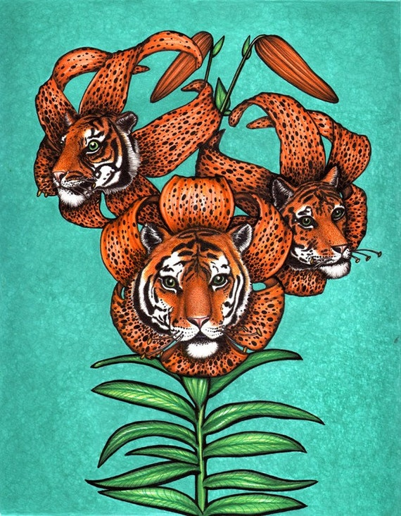Tiger Lilies - 8x10 archival giclee print