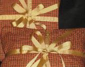 Reusable Giftwrap - Red Plaid set