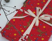 Reduced for holiday Reusable Gift Wrap by Joell Jacob - Rudolph 27X27
