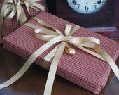 Reduced for holiday Reusable Giftwrap - Red Plaid set