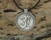 Om Pendant in Sterling Silver - Free Shipping in the USA