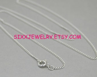 18 inch-1.2 mm Sterling Silver Premium Curb Chain - Free Shipping in the USA