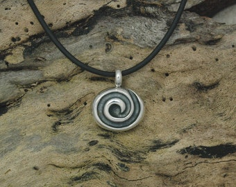 Wave  Pendant in Sterling Silver - Free Shipping in the USA