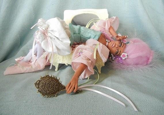 SALE! Cafe au lait Creole Cortesan OOAK Art Doll
