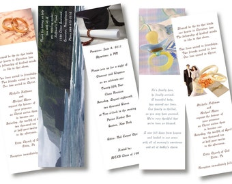 100 Full Color Quality 4/C Printed Promotional or Favors Bookmarkers - FREE USPS USA Standard Shipping Included.
