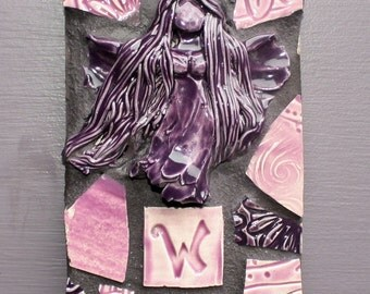 Mosaic Fairy Welcome Sign Purple