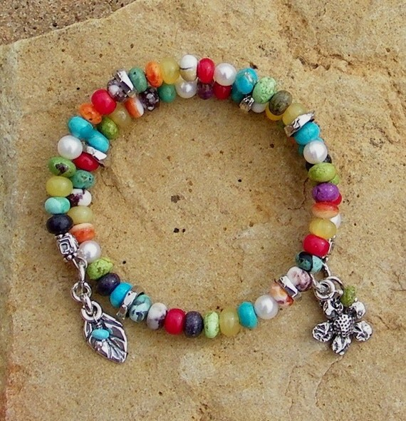 Gaspeite Wild Horse Coral Handcrafted Artisan Sterling