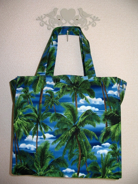 Tropical Palms in Paradise TIGHT 'N' TIDY Tote Shopping Bag