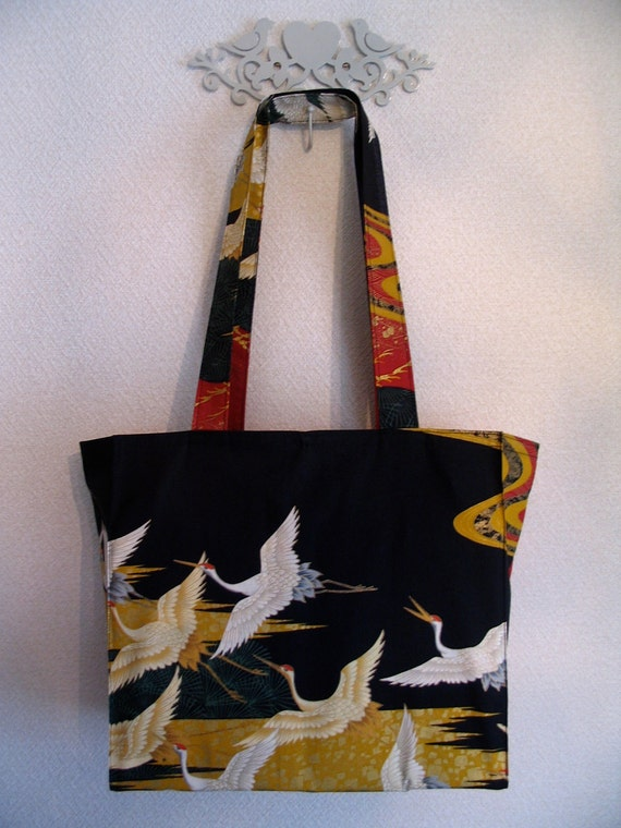 Japanese Cranes in Flight TIGHT 'N' TIDY Tote