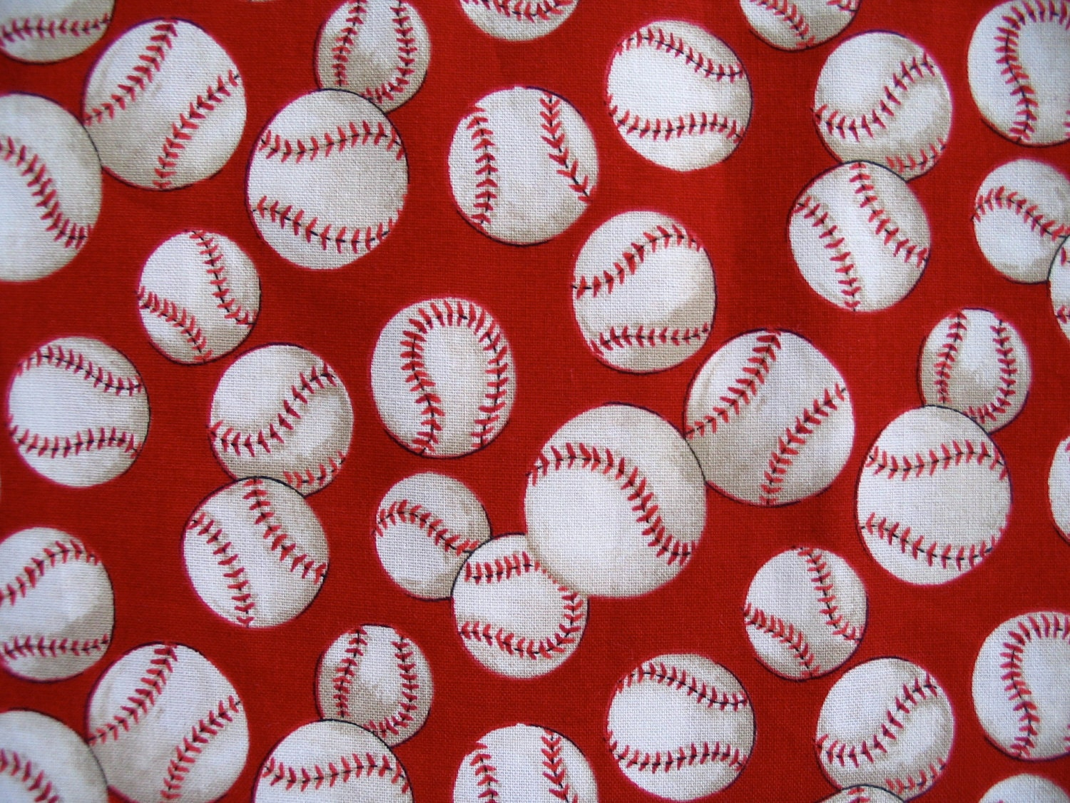 Baseballs and Baseball Bats Cotton Fabric. Baseballs and Baseball Bats Cotton Fabric in not a licensed fabric. This fabric is great for quilti.