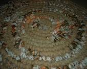 Flannel Round Rag Rug