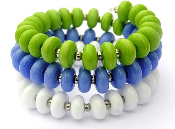 Colorful Bracelet For Her - Beach Bracelet For Her - Easter Bracelet For Her - Summer Bracelet For Her - Statement Bracelet For Her