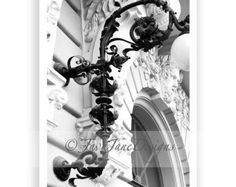 Letter F - Alphabet Photography Individual 4x6 Black and White Photo for Name Frames (F8)